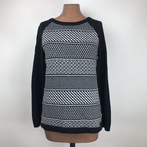 Talbots Nordic Pattern Wool Pullover Sweater